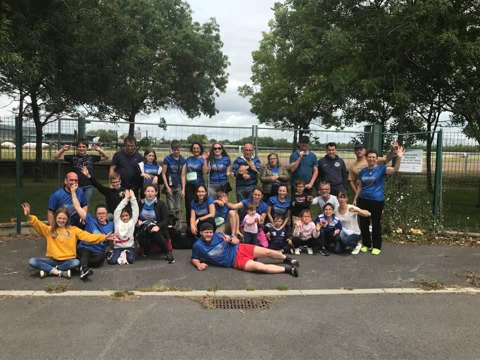 Photo du groupe de Nantes lors de la Course des Héros 2021