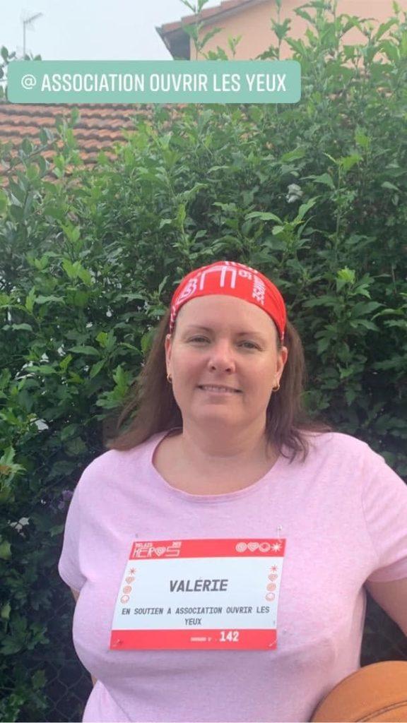 Photo de Valérie lors de la Course des Héros 2021